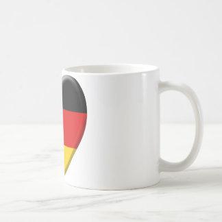 Coeur drapeau j'aime Allemagne Mug Blanc