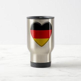 Coeur drapeau j'aime Allemagne Mug De Voyage En Acier Inoxydable