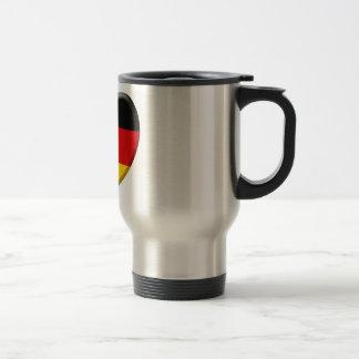 Coeur drapeau j'aime Allemagne Tasse À Café
