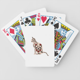 Coeur du crâne cartes à jouer