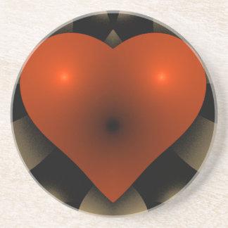 coeur du rouge 3D Dessous De Verre