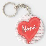 Coeur du ` s de Nana Porte-clé Rond