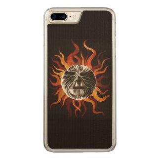 Coeur du soleil coque iphone 7 plus en bois
