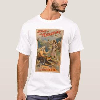 Coeur du théâtre d'extraction de l'or de Klondike T-shirt