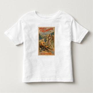 Coeur du théâtre d'extraction de l'or de Klondike T-shirt Pour Les Tous Petits