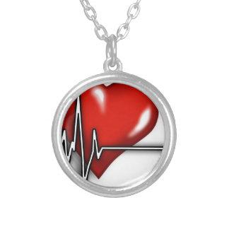 Coeur ECG Pendentif Rond