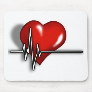 Coeur ECG Tapis De Souris