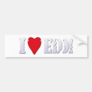 Coeur EDM (musique saine de club) - autocollant de Autocollant De Voiture