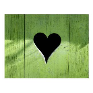 Coeur en bois cartes postales