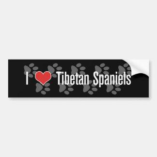 (Coeur) épagneuls I tibétains Autocollant Pour Voiture