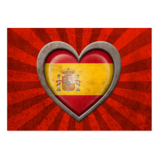 Carte De Visite Grand Drapeau Espagnol Au Coeur S Cartes
