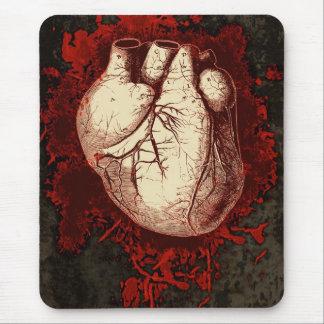 Coeur et éclaboussure tapis de souris