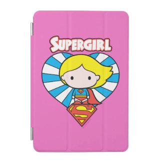 Coeur et logo de Chibi Supergirl Starburst Protection iPad Mini
