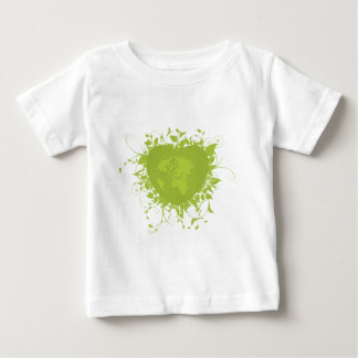 Coeur et terre verts t-shirts