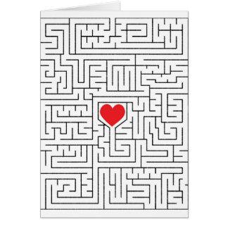 Coeur extraordinaire carte de vœux