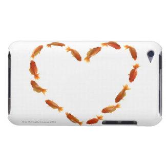 Coeur fait avec des poissons rouges coque iPod touch