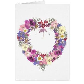 Coeur floral cartes