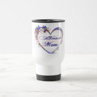 Coeur floral de la meilleure maman tasse
