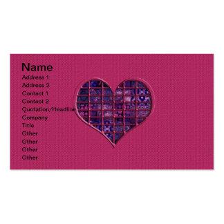 Coeur girly à la mode rose avec le matériel carte de visite standard