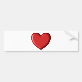 Coeur gonflé romantique 3D d'amour rouge de coeur Autocollant Pour Voiture