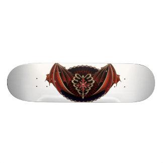 Coeur gothique avec la conception de tatouage skateboards personnalisés
