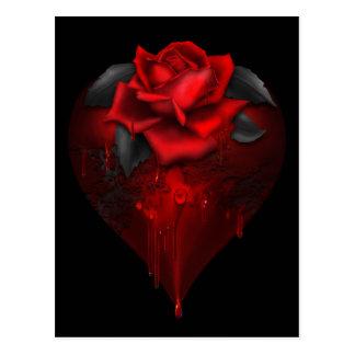 Coeur gothique carte postale