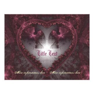 Coeur gothique pourpre 001 prospectus en couleur