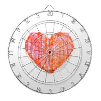 Coeur graphique grunge de style d'art de bruit jeu de fléchettes