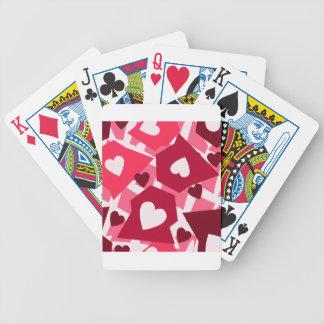 Coeur groupé jeu de cartes
