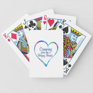 Coeur heureux campant jeu de cartes