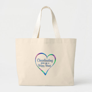 Coeur heureux Cheerleading Grand Tote Bag