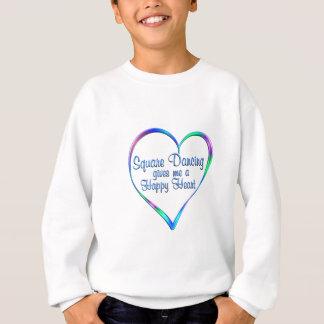 Coeur heureux de danse carrée sweatshirt