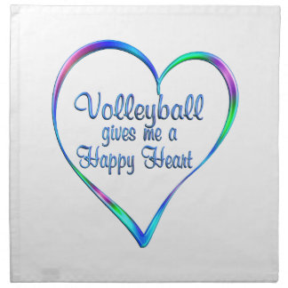 Coeur heureux de volleyball serviettes de table
