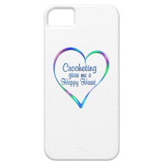 Coeur heureux faisant du crochet coques iPhone 5 Case-Mate
