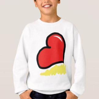 coeur heureux rouge sweatshirt