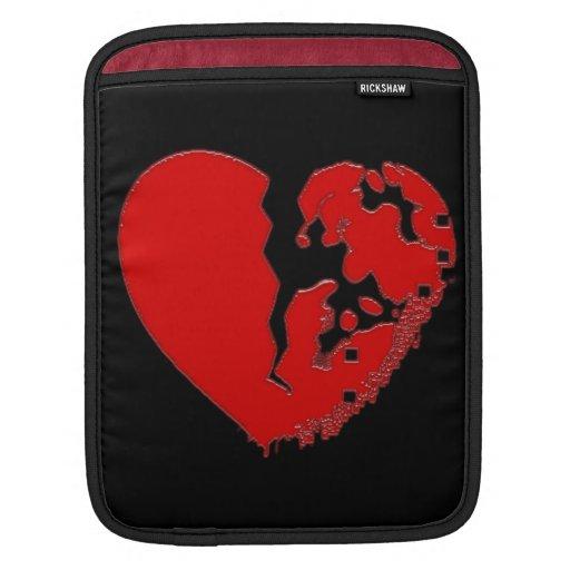 Coeur heurté cassé poches pour iPad