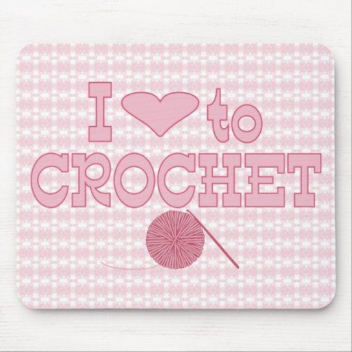coeur i faire du crochet tapis de souris zazzle. Black Bedroom Furniture Sets. Home Design Ideas