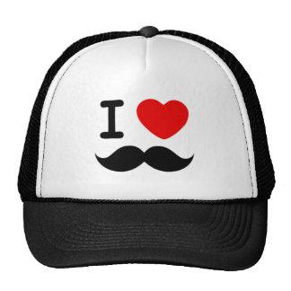 Coeur I/moustaches/moustaches d'amour Casquette De Camionneur