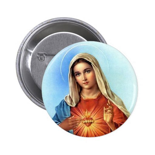 Coeur impeccable Mary Badges Avec Agrafe
