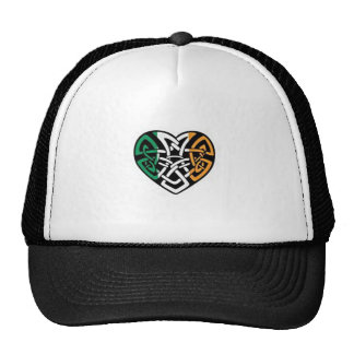 Coeur irlandais de drapeau casquettes