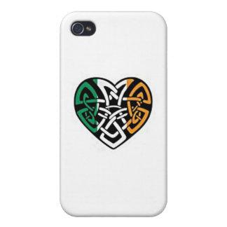 Coeur irlandais de drapeau coques iPhone 4