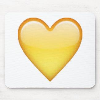 Coeur jaune - Emoji Tapis De Souris