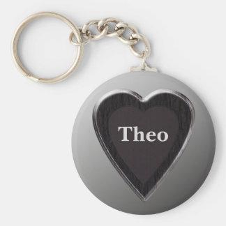 Coeur Keychain de Theo par 369 mon nom