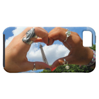 Coeur le cas de l'iPhone 5 de Tour Eiffel Coque iPhone 5 Case-Mate