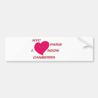 COEUR LOVE NYC PARIS LONDON CANBERRA 1.PNG AUTOCOLLANT POUR VOITURE