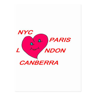 COEUR LOVE NYC PARIS LONDON CANBERRA 1.PNG CARTE POSTALE