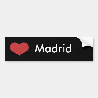 Coeur Madrid Autocollant Pour Voiture