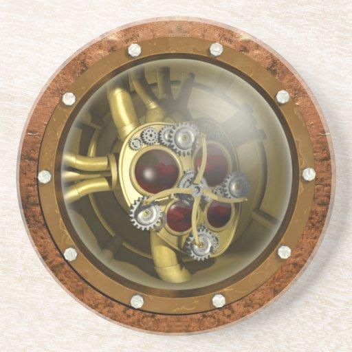 Coeur mécanique de Steampunk Dessous De Verres