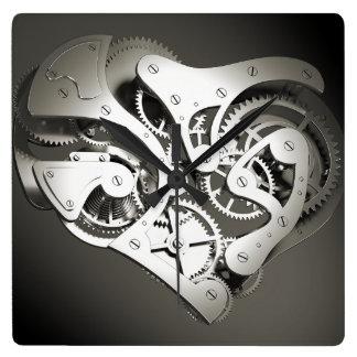 Coeur mécanique vintage de Steampunk - B&W Horloge Carrée