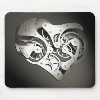 Coeur mécanique vintage de Steampunk - platine B&W Tapis De Souris